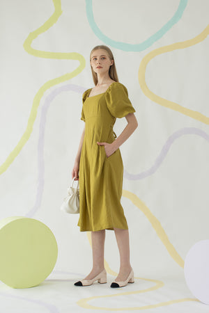 Gain Dress in Moss Green