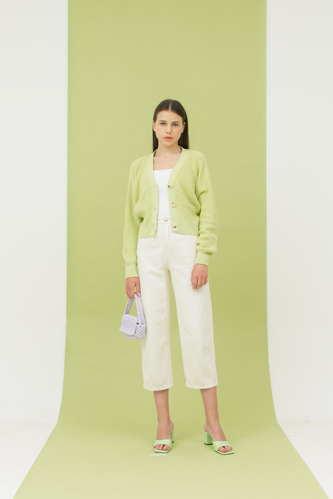 Hayi Cardigan in Lime READY 5th of April