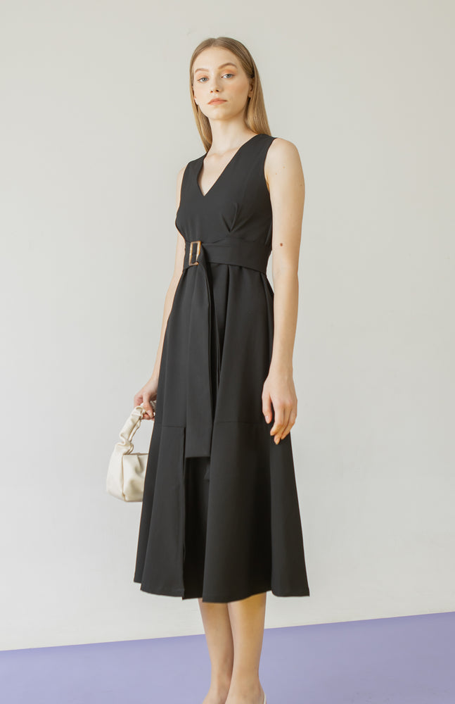 Load image into Gallery viewer, Rowen Dress in Black