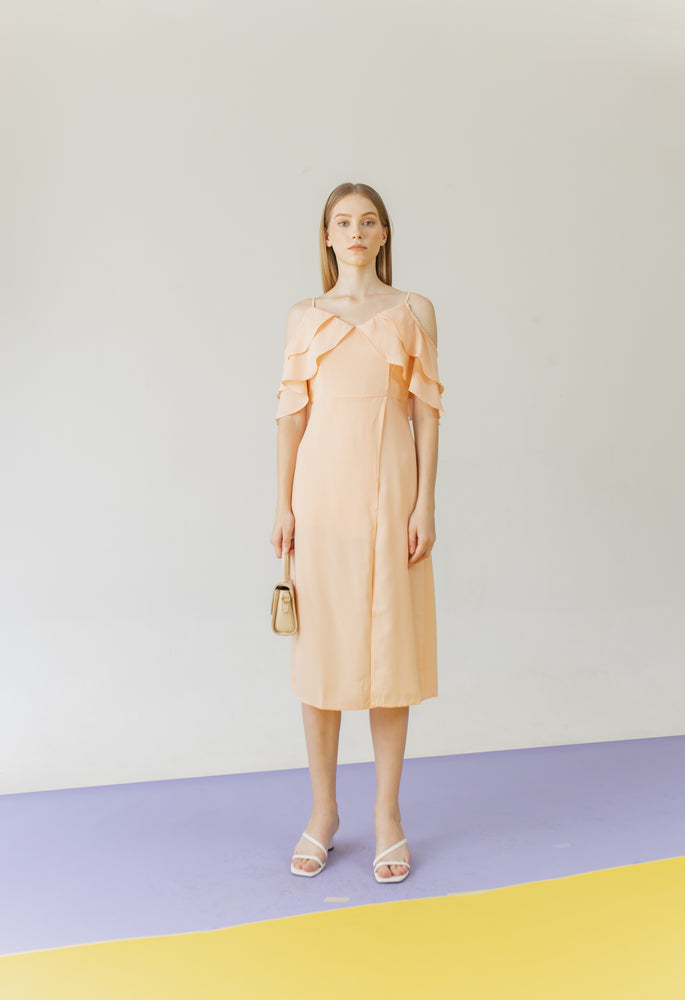 Load image into Gallery viewer, Ferragni Dress in Peach