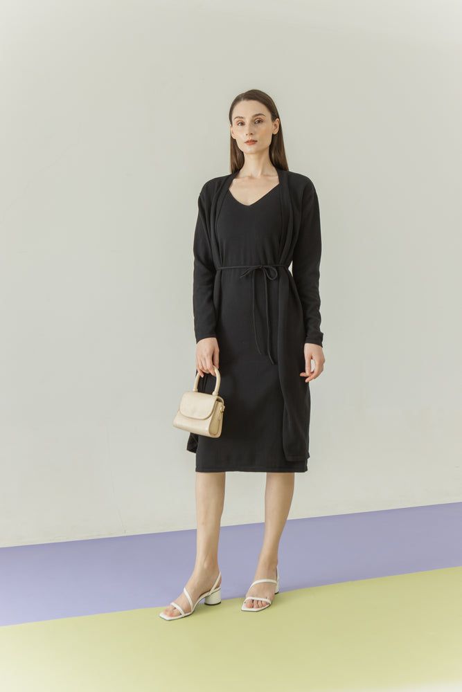 Moon Set Dress in Black