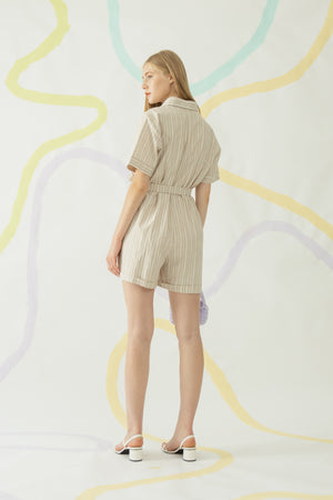 Load image into Gallery viewer, Dasom Jumpsuit in Khaki (New Fabric)