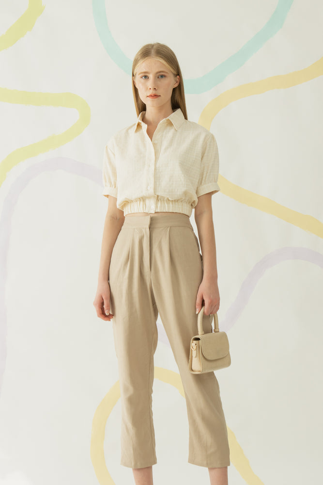 Load image into Gallery viewer, Yebin Shirt in Khaki (New Fabric)
