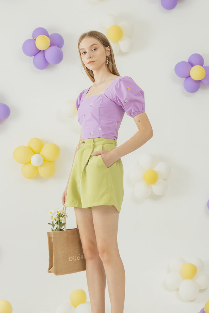 Kkot Top in Purple