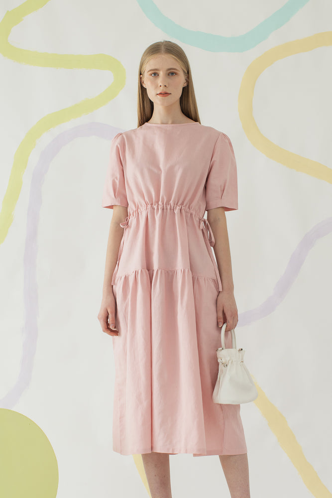 Mae Dress in Rose Pink