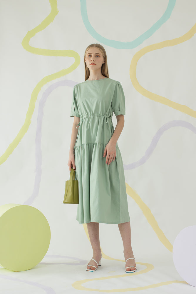 Mae Dress in Sage Green