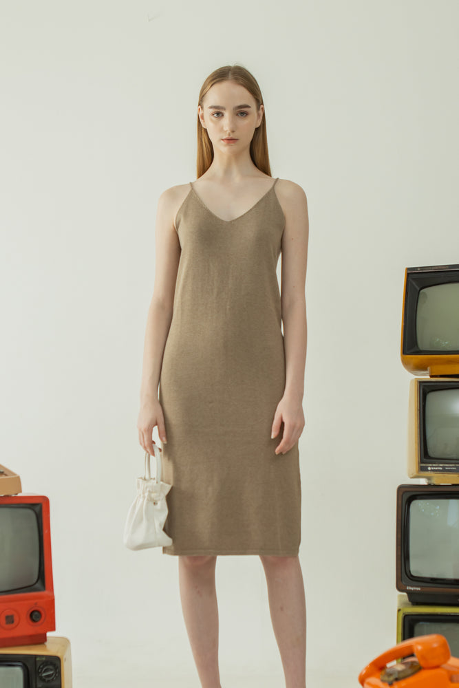 Moon Set Dress in Khaki