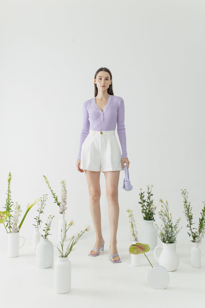 Peggy Top in Lilac