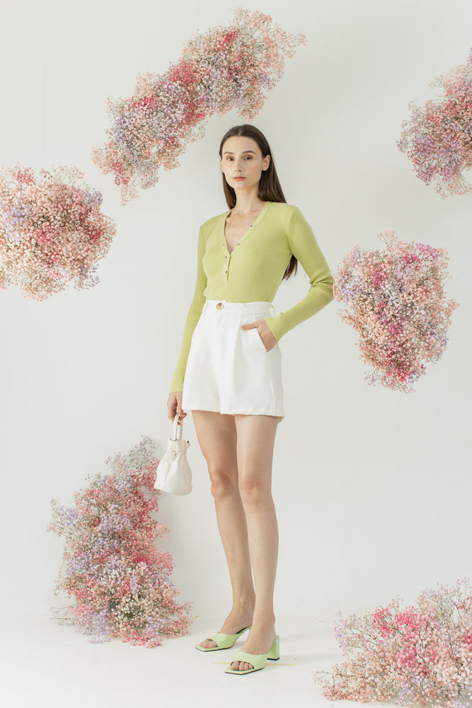 Peggy Top in Lime