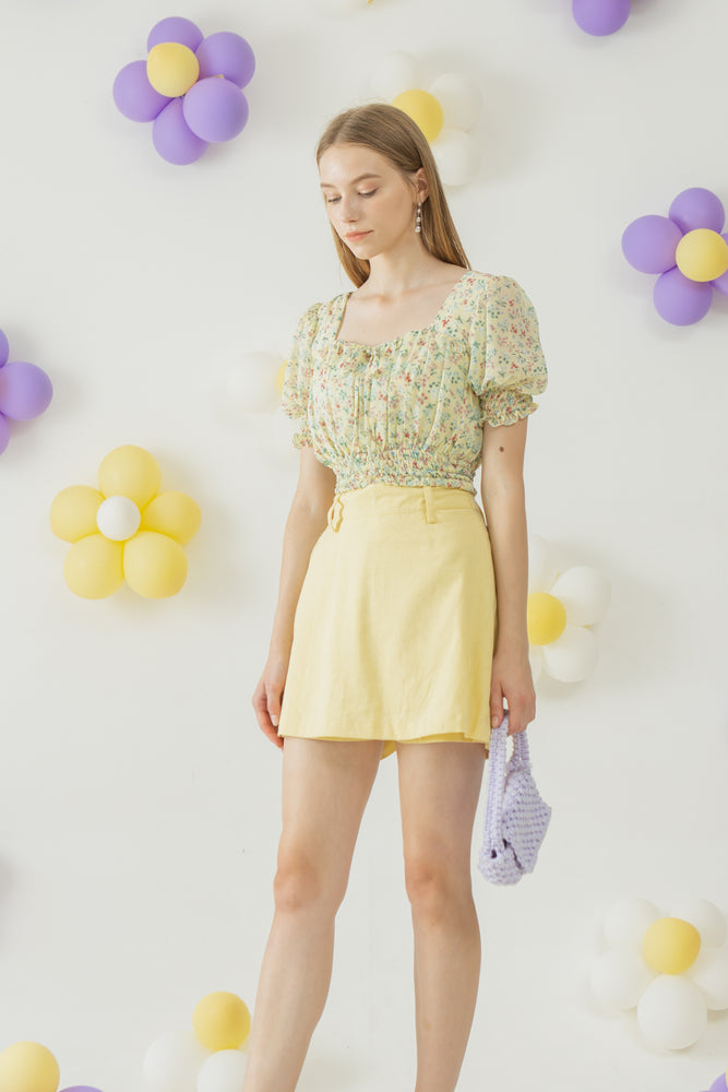 Rose Top in Yellow