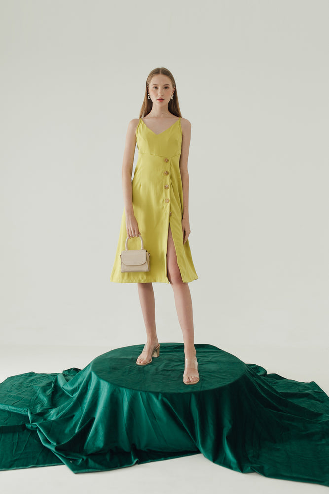 Load image into Gallery viewer, Saffron Dress in Lime