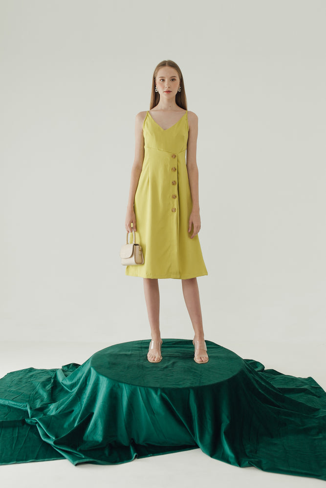 Saffron Dress in Lime
