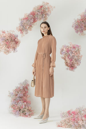 Load image into Gallery viewer, Yejin Dress in Rose Brown