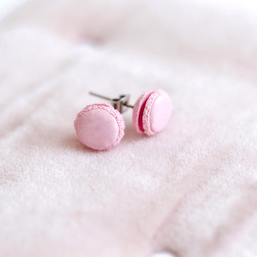 hand formed hand made macaroon macaron earrings