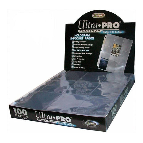 Ultra Pro 9 Pocket PLATINUM PAGE 100CT BOX