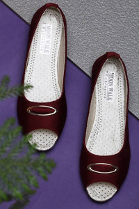 Women's Synthetic Maroon Bellies