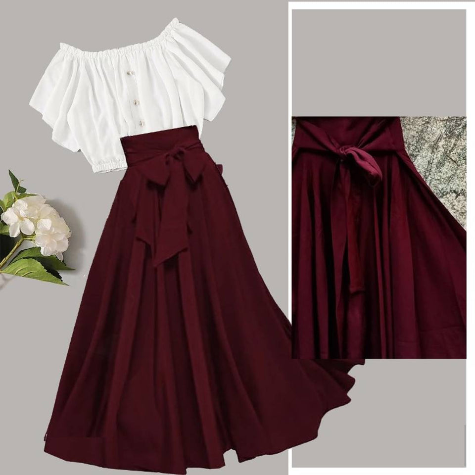 Trendy Top Skirt Set