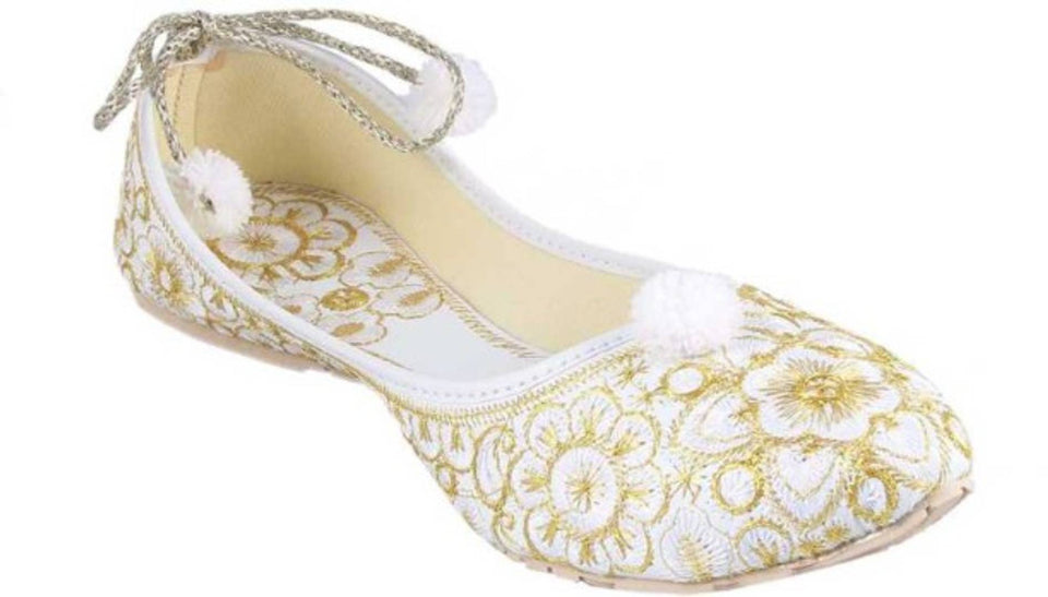 RTC Ethnic Embellished Embroidered Mojari Jutties For Womens Girls