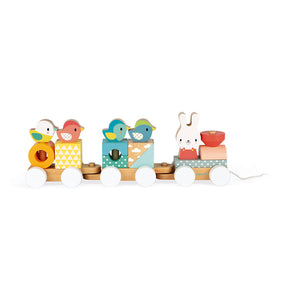 (Preorder) PURE SERIES Train (Wooden Pull Train)