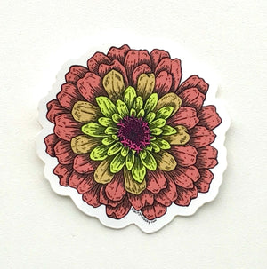 Zinnia Sticker