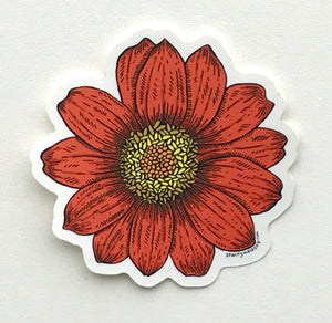 Load image into Gallery viewer, Tithonia Sticker