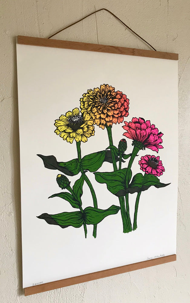 Load image into Gallery viewer, Zinnias Print