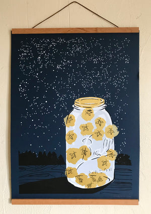 Load image into Gallery viewer, Fireflies Print