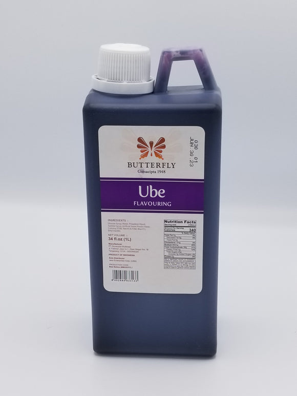Butterfly Ube Flavouring 1 liter Philippine Food Corp Chicago