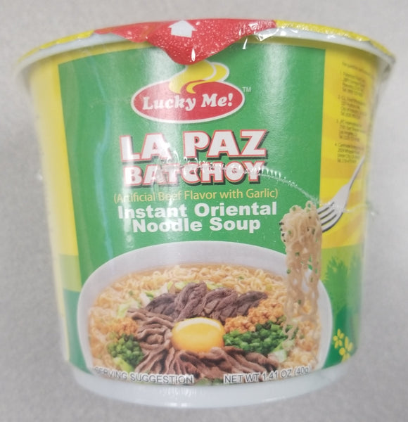 Lucky Me Mini La Paz Batchoy Cup - 1.41 oz Lucky Me
