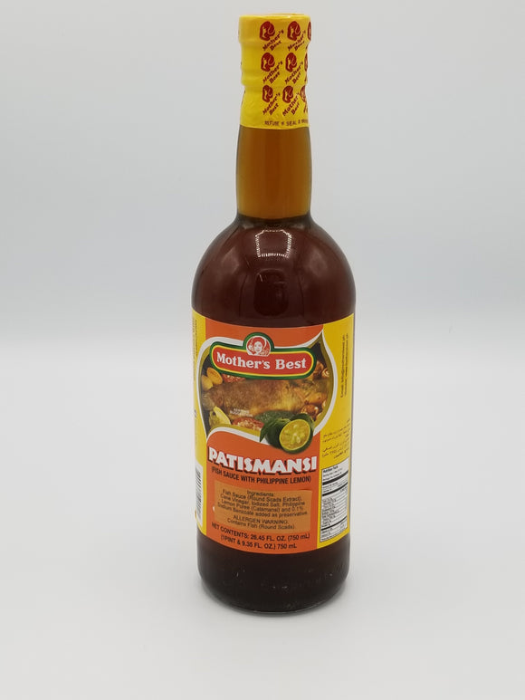 Mothers Best Patismansi Fish Sauce with Calamansi Mother's Best