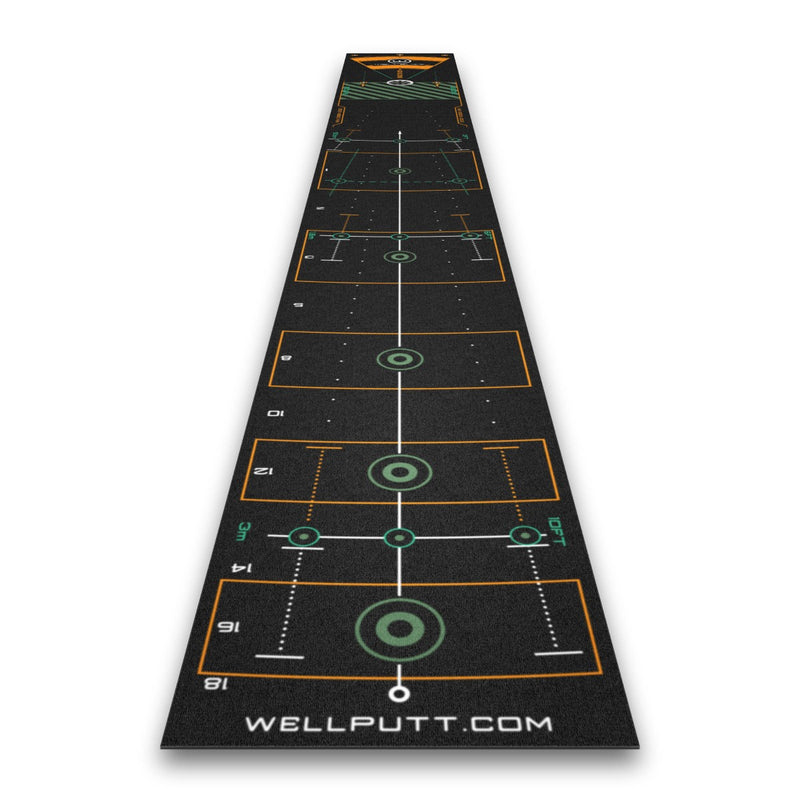 Wellputt Golf Putting Mat - 13ft Black