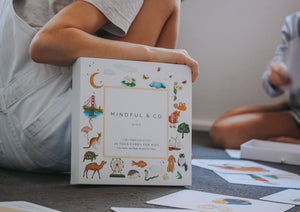 Yoga flash cards and kids.