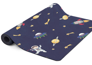 Space themed kids yoga mat.
