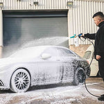 Snow foam being applied to a car