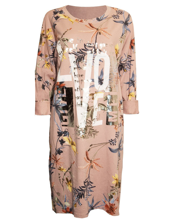 Floral Print Dress with Side Zips - Envy Manchester