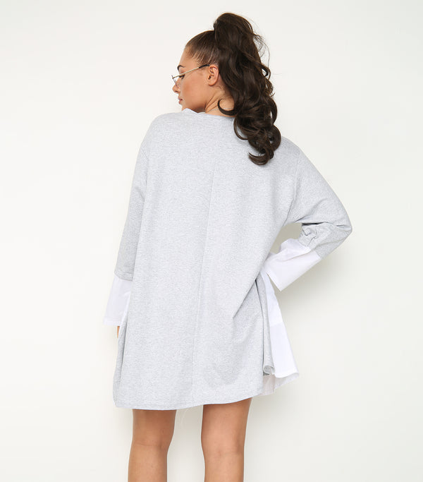 Long Length Tunic with Mock Shirt