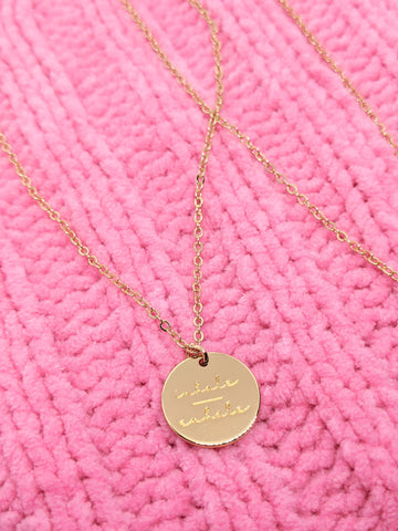 Inhale Over Exhale Necklace ~ Gold