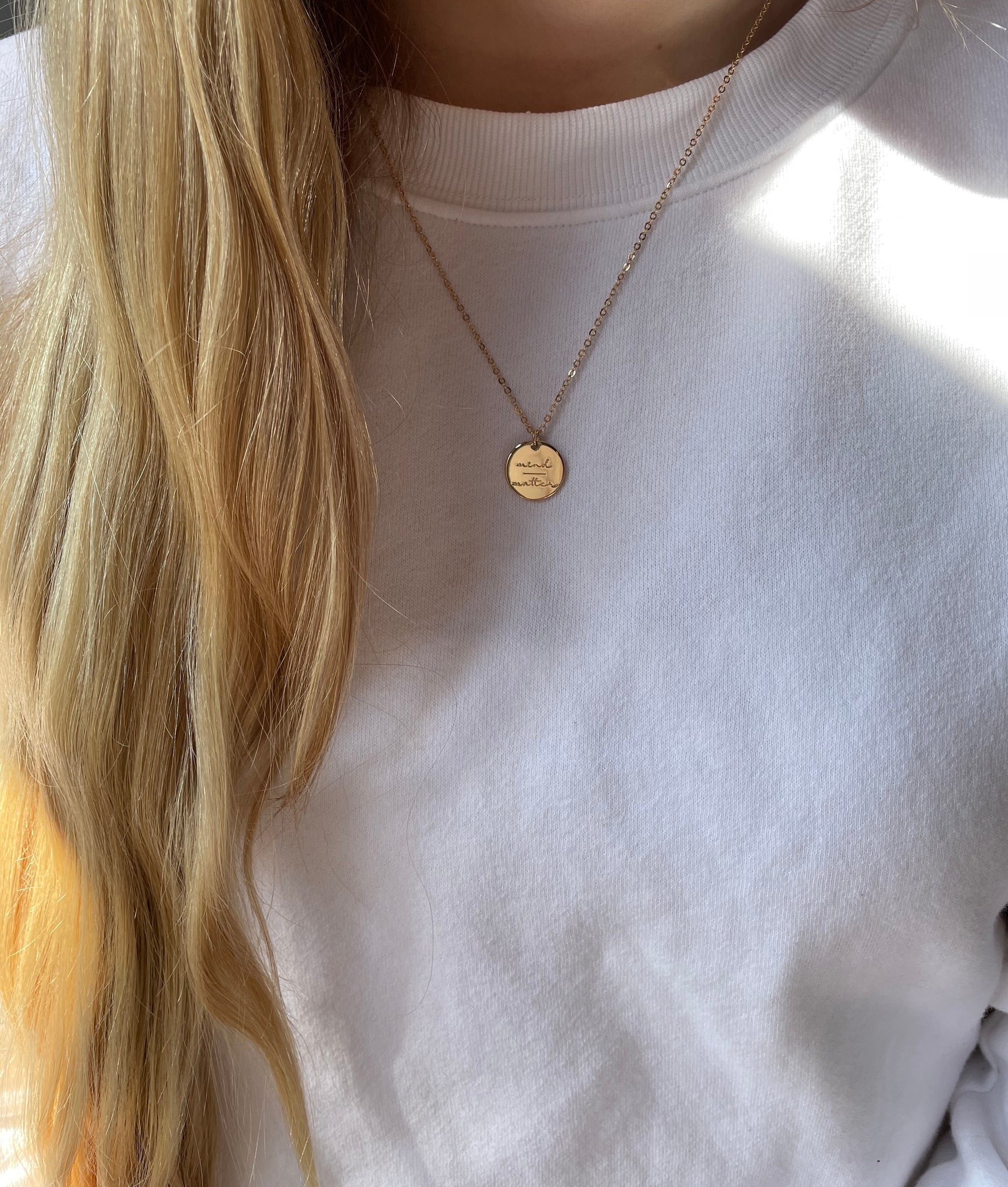 Mind Over Matter Necklace ~ Gold