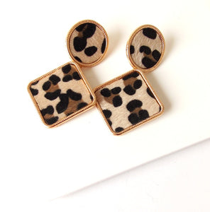 Leopard Print Statement Earrings