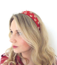 Load image into Gallery viewer, Red Wide Jewelled Headband