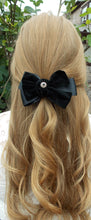 Load image into Gallery viewer, Black Velvet Hair Bow