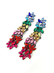 Rainbow Floral Drop Earrings