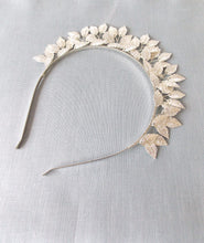 Load image into Gallery viewer, Silver Leaf Grecian Style Headband