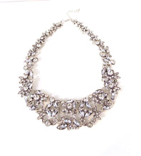Load image into Gallery viewer, Silver Crystal Rhinestone Necklace