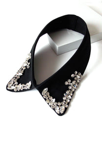 Black Crystal Jewelled Collar Necklace