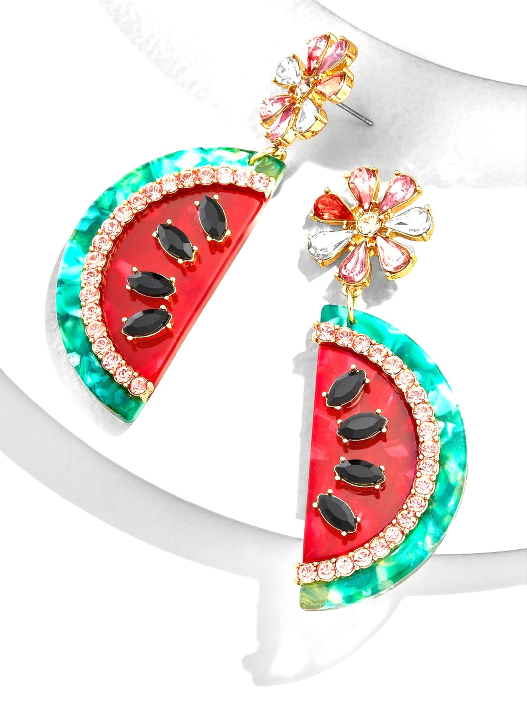 Watermelon Jewelled Earrings