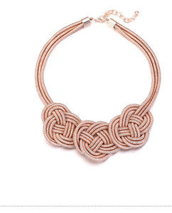Rose Gold Knot Style Necklace