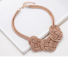 Load image into Gallery viewer, Rose Gold Knot Style Necklace