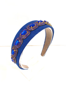 Blue Jewelled Handmade Headband