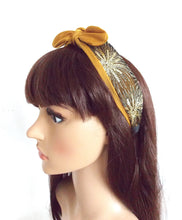 Load image into Gallery viewer, Mustard Bow Headband